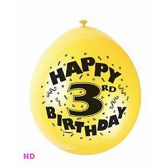 Ballonnen 'HAPPY 3rd BIRTHDAY' 9