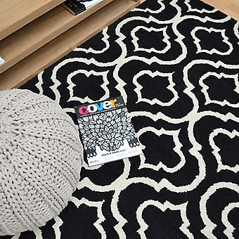 Rugs -Linear - LIN15 Black White