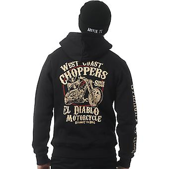 West Coast Choppers Black El Diablo Zip Hoody