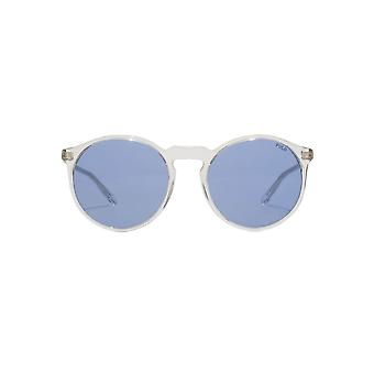 Polo Ralph Lauren Round Keyhole Sunglasses In Clear