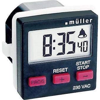Temporizador de cuenta regresiva de Müller TC 14.21 digital 230 V CA 8 A/230 V