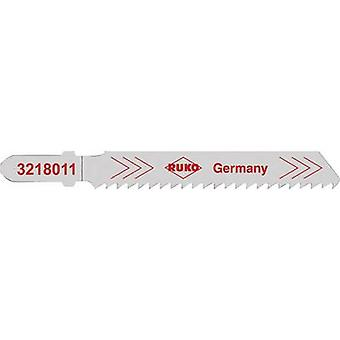 Jigsaw blades RUKO 3228011 Steel (grade 37) up to 4 mm, stainless steel, V2A up to 3 mm, heavy non-ferrous metals and aluminium 3 to 10 mm, hard plastics and