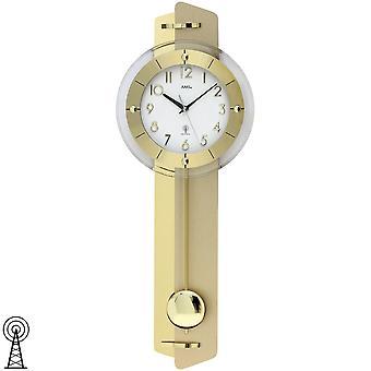 Маятник настенные часы настенные часы с применением латуни радио маятника на деревянной задней стенке