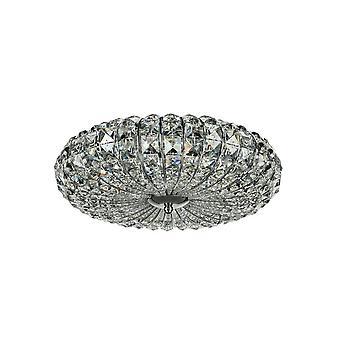 Maytoni Lighting Broche Diamant Crystal Ceiling Lamp, Nickel