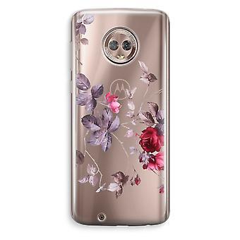 Motorola Moto G6 Transparent Case (Soft) - Pretty flowers
