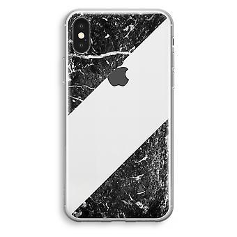 iPhonegeval XS Transparant (Soft) - zwart marmer
