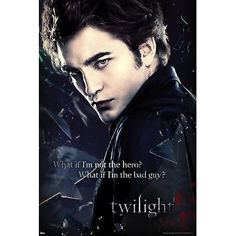 Edward de Twilight Broken Glass affiche Poster Print