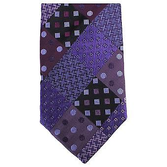 Knightsbridge Neckwear Multi Pattern Tie - Purple