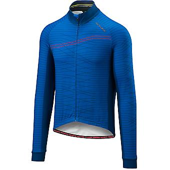 Altura Blue-Blue 2018 Thermo Lines Long Sleeved Cycling Jersey
