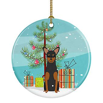 Merry Christmas Tree Manchester Terrier ornement céramique