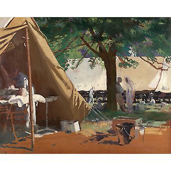 German Sick, Captured at Messines, in (a), William Orpen, 50x40cm