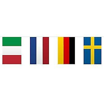 Fotball vimpel banner Europe flagg 10 m EM World Cup fotball partiet