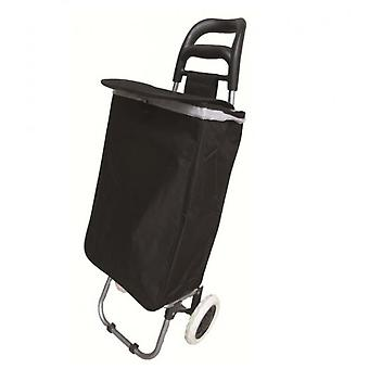 31L Large 22 Inches Black Shopping Trolley Hoopa Wheeled