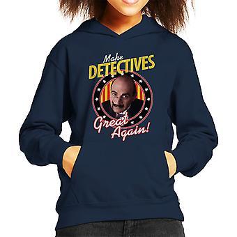 Detektive groß machen wieder Poirot Kinder Kapuzen-Sweatshirt