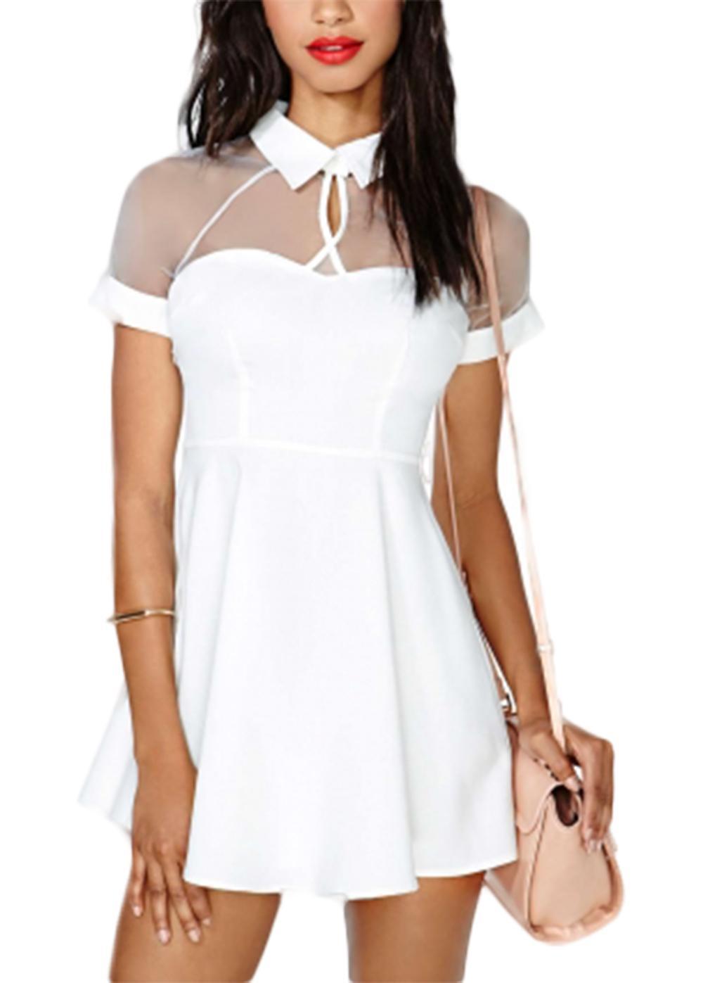 Waooh - vestido transparente escote Ozee