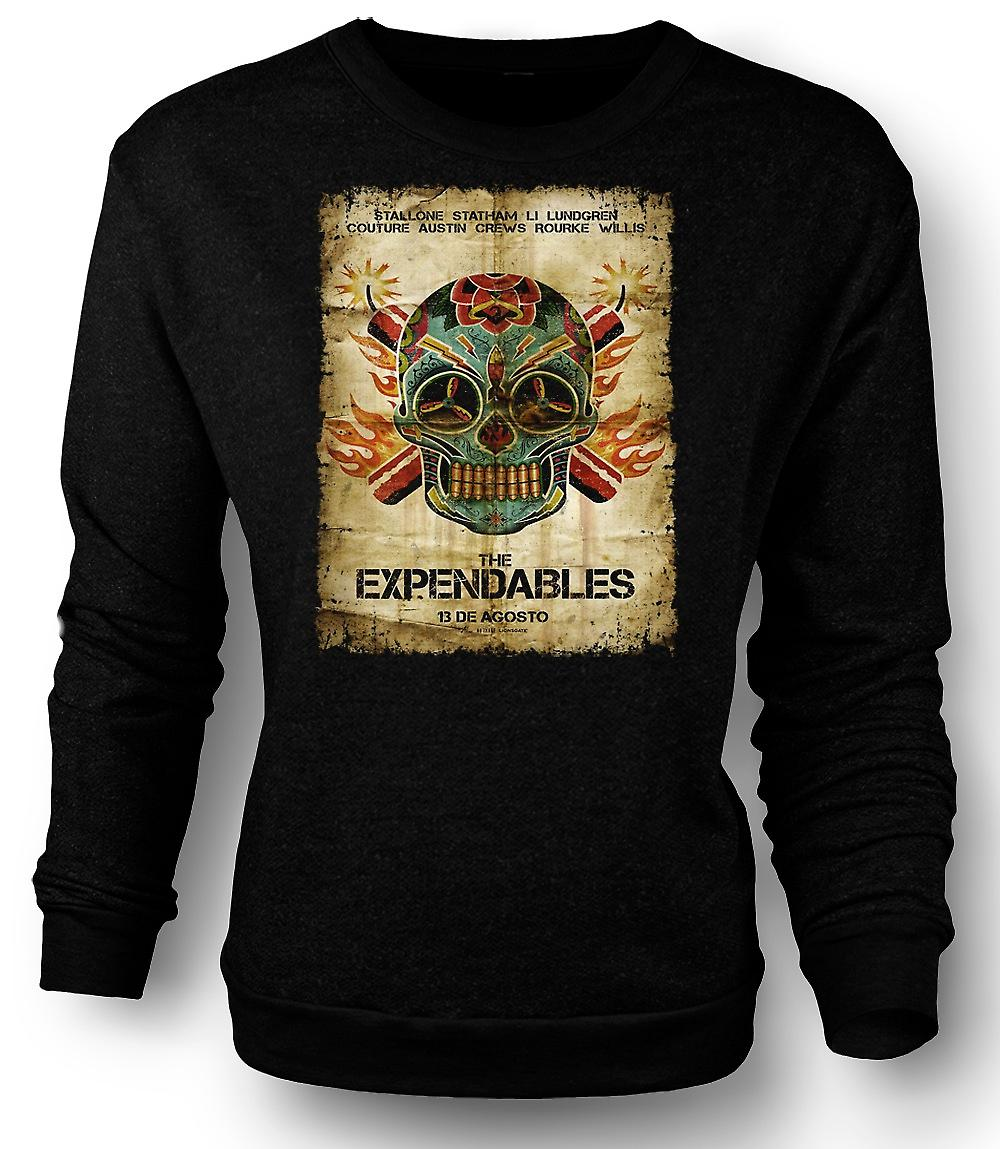 Mens Sweatshirt The Expendables - B Movie - Poster