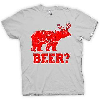 تي شيرت رجالي-البيرة-مضحك