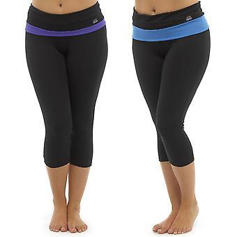 af2ede9239 2Pk Ladies Tom Franks Two Tone Sport Gym 3/4 Pants Fashion Sportswear