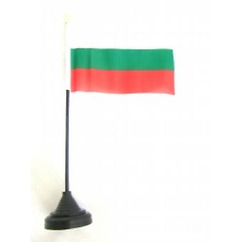 Bulgaria Table Flag with Base and Stick