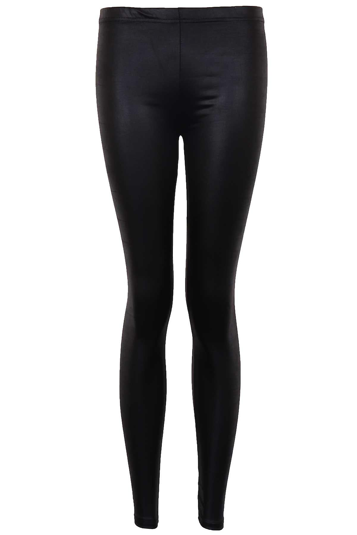 Ladies American Style Disco High Waisted Shiny PVC Women's Leggings Trousers