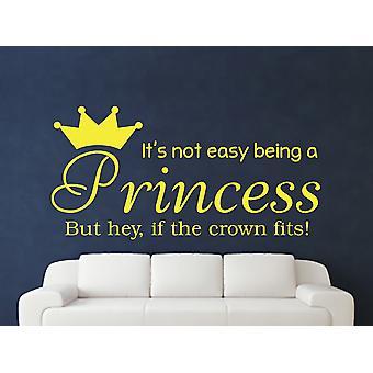 Being A Princess Wall Art Sticker - Sulphur