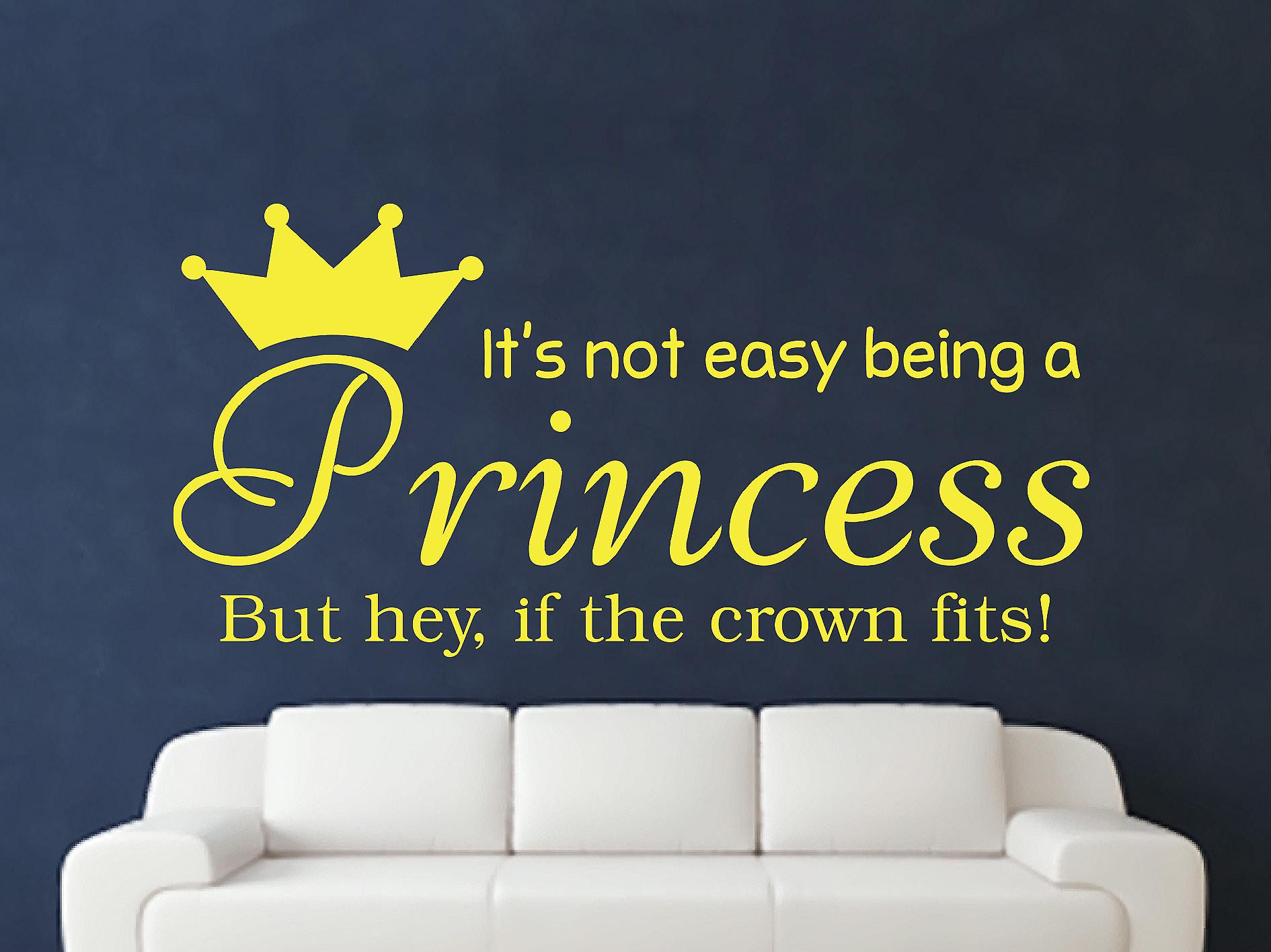Being A Princess Wall Art Sticker - Sulphur