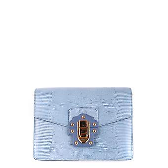 Dolce E Gabbana Light Blue Leather Shoulder Bag
