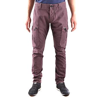 Stone Island Purple Cotton Pants