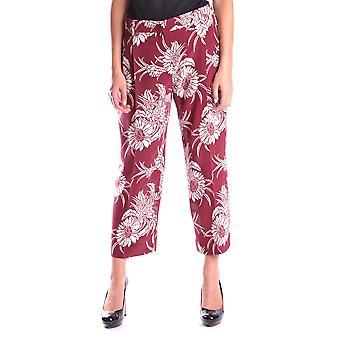 Prada Burgundy Silk Pants