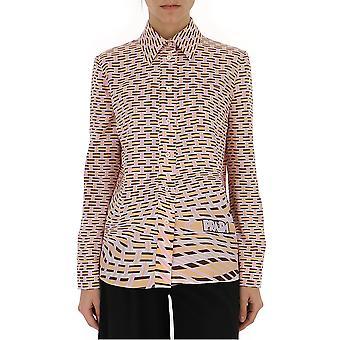 Camisa de seda Multicolor de Prada