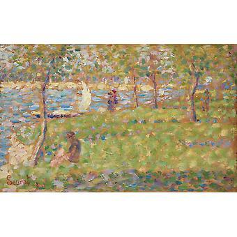 Der Grand Jatte Sonntagnachmittag, Georges Seurat, 60x37cm