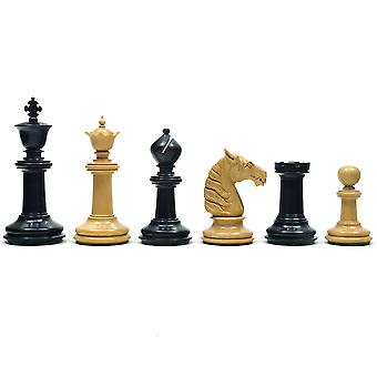 Traditional Staunton Ebony Bath Chessmen 3.75 inch