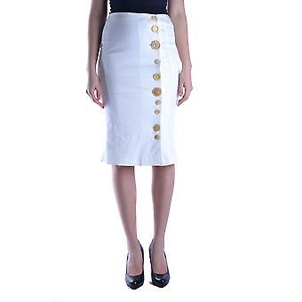 Antonio Berardi White Cotton Skirt