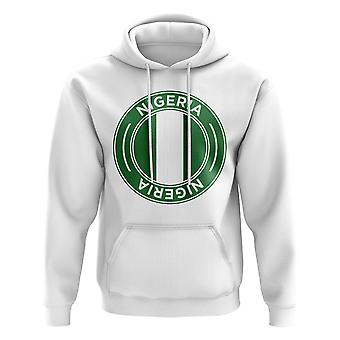 Nigeria Football Badge Hoodie (White)