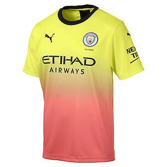 Puma Manchester City 2019/20 Mens manga curta terceira camisa de futebol amarelo