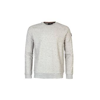 Hugo Boss Casual Hugo Boss Men's Grey Waldo Cotton-stretch Sweatshirt