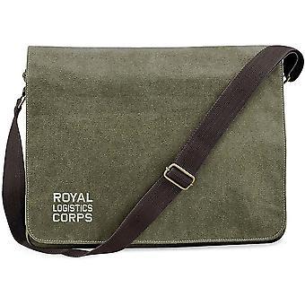RLC Royal Logistics Corps texto-licenciado British Army bordados vintage Canvas saco mensageiro Despatch