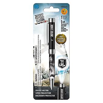 Projector Pen - Justice League Movie Flashlight 1.0mm Ballpoint New iw4154