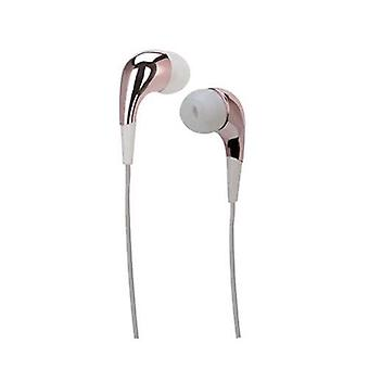 Meliconi speak mirror earphones with microphone cable 1.2 mt jack 3.5 mm color white/pink
