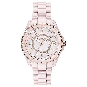 Coach   Womens   Preston   Pink Ceramic Bracelet   Pink Dial   14503463 Watch