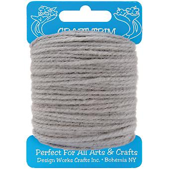 Craft Yarn 20 Yards gris 100 34