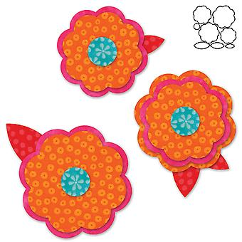 Go! Fabric Cutting Dies It Fits! Rose Of Sharon #2 553 82