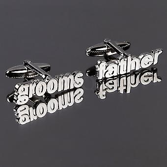 Grooms Father Cut Out Words Wedding Cufflinks