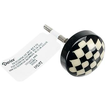Heritage Hardware Plastic Knob-Checker Board 30004473