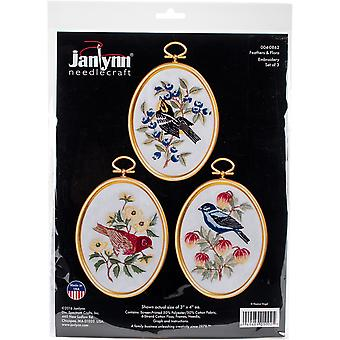 Feathers And Flora Embroidery Kit Set Of 3-3