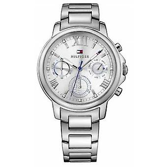 Tommy Hilfiger Womens Claudia Stainless Steel Bracelet Silver Tone Dial 1781741 Watch