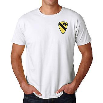 US Army 1st Cavalry Insignia Logo - ricamato camicia cotone Ringspun T
