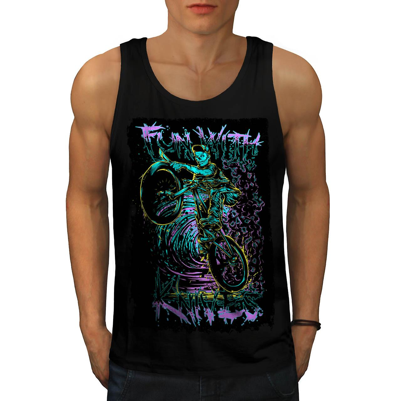 Fun With Knives Rider Zombie Bike Men Black Tank Top | Wellcoda