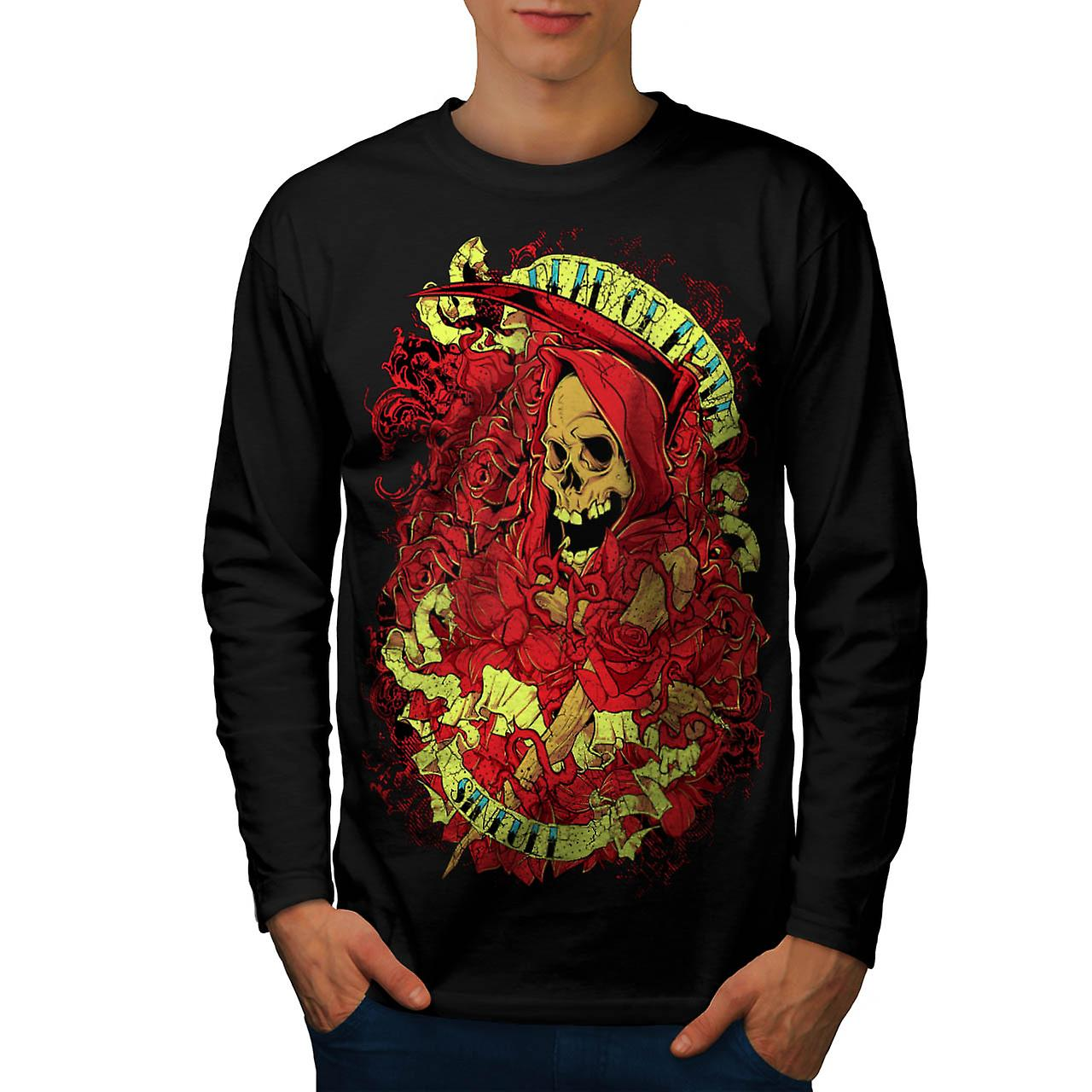 Dead Or Alive Sinfull Death Robe Men Black Long Sleeve T-shirt | Wellcoda
