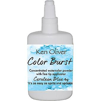 Ken Oliver Color Burst Powder 6gm-Cerulean Blue KNCPW-7052